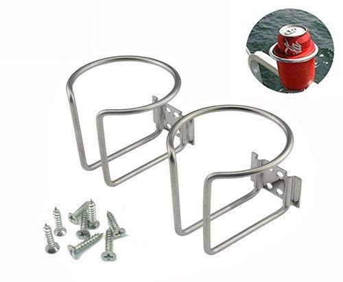 Z-Color 2pcs Stainless Steel Boat Ring Cup Drink Holder Universal Drinks Holders for Marine Yacht Truck RV Car Trailer Hardware
