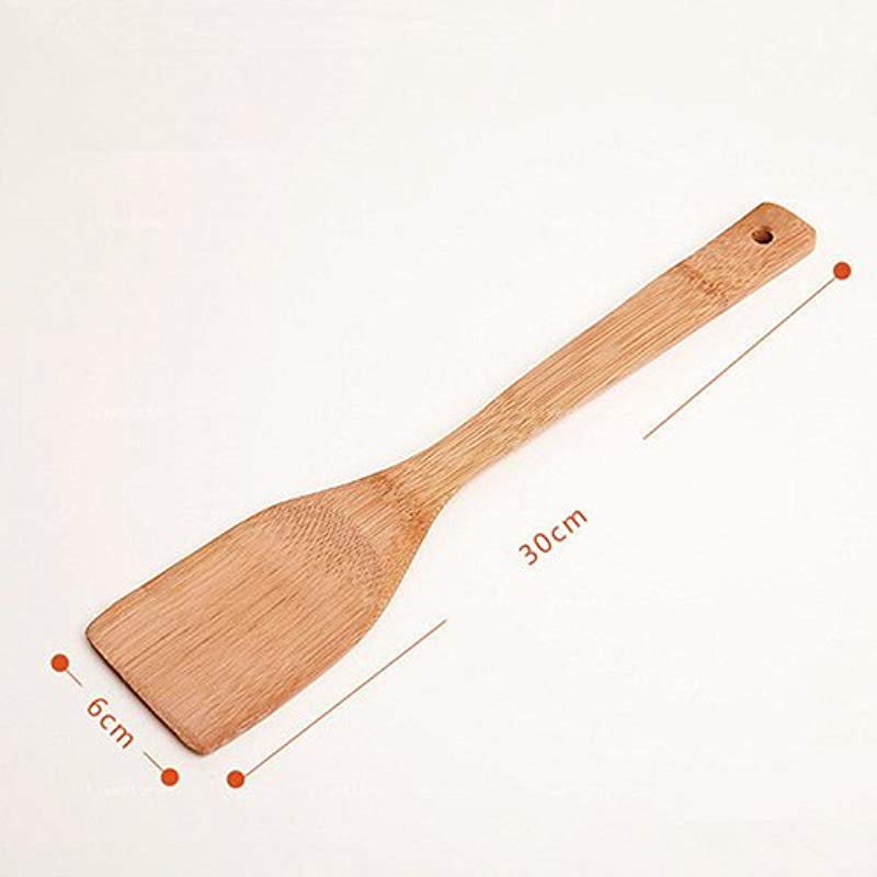 Shengyuze 30cm Bamboo Wooden Kitchen Cooking Utensils Set Tools Spatula Spoon Turner Cooking Utensil Tool