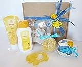 Canastilla Ecológica'Bienvenido Bebé' | Set con Productos Weleda, Cupcake...