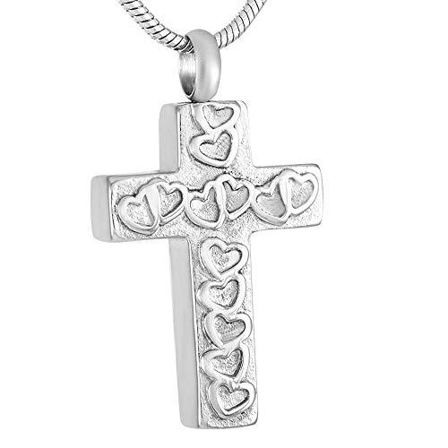 TYBM Collares para Mujer 1 Cruz De Cremación, Joyería De Collar De Urna, Haz El Amor Siempre Igual