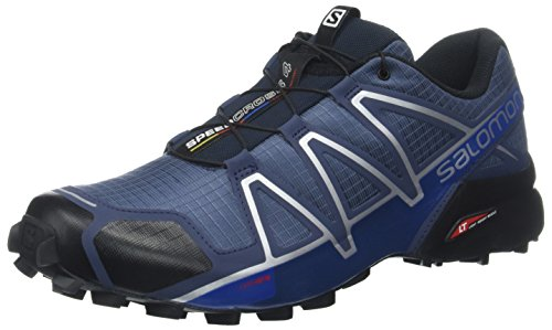 Salomon Men's Speedcross 4 Trail Runner, Slate Blue/Black/Blue Yonder, 11.5 D US