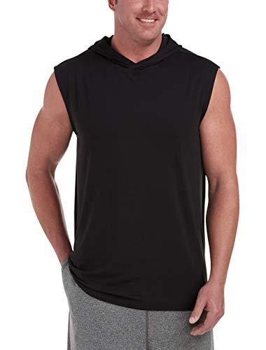 Amazon Essentials Men's Tech Stretch Sleeveless Pullover Hoodie, Black, 6XL