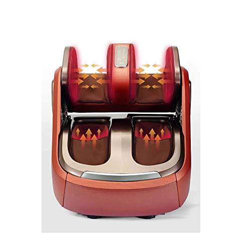 Qin Shiatsu Foot Massager Machine -Increases Blood Flow Circulation, Deep Kneading -Deep Tissue,Foot and Knee Heating Legs Calf Massage Machine Air Pressure Air Compression Massage for Improve Sleep