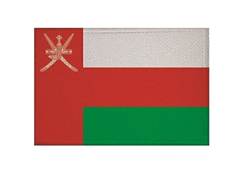 U24 Aufnäher Oman Fahne Flagge Aufbügler Patch 9 x 6 cm