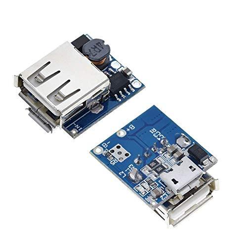 LKK-KK 2ST 5V Lithium-Batterie-Ladegerät Step Up Protection Board-Boost-Power Module Micro USB 18650 Energien-Bank-Ladegerät Brett DIY Zubehör Digital