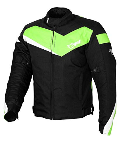 Jet Motorradjacke Motoradkleidung Rollerjacke Mopedjacke Herren Mit Protektoren Textil Winddicht Leicht Basic ECONOTECH (XS (EU 44-46), Grün)