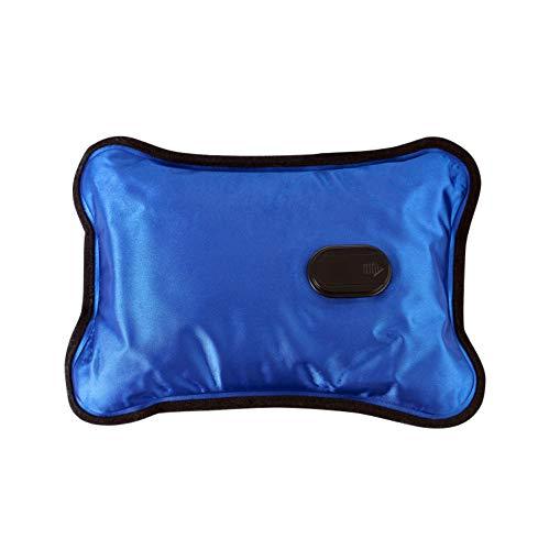 Adler AD 7427 elektrische warmwaterkruik met zachte overtrek, 360 W, warmtekussen voor volwassenen en kinderen, houdt temperatuur tot 5 uur, kussen, bedfles, blauw