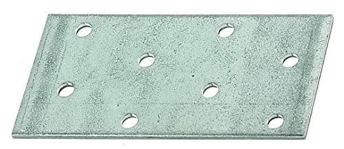 GAH-Alberts 331429 Lastrina di giunzione piana | zincata con procedimento Sendzimir | 80 x 40 mm | Set da 25