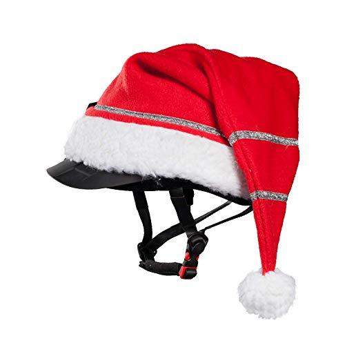 netproshop Unisex Winter Weihnachtsmütze mit Glitzer für Reithelm Rot One Size