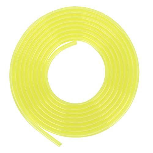 Kraftstoffleitung 3 Meter Gelber Schlauch Kraftstoffleitung Benzinrohr Rasenmäher Trimmer Zubehör Kettensäge Ersatzteile(3 * 5 mm)