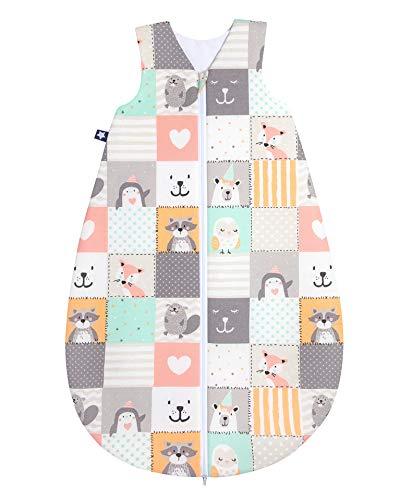 Julius Zöllner Baby Sommerschlafsack aus 100% Baumwolle, Größe 110, 24-48 Monate, Standard 100 by OEKO-TEX, made in Germany, Memory