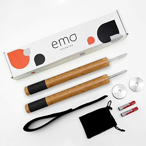 ema® Interior Design Rennrad Wandhalterung aus premium Eichenholz mit Anti-Rutsch Beschichtung - Made in Germany (Eiche Dunkel)