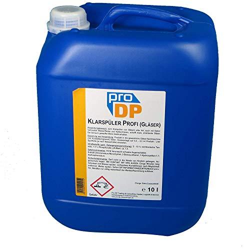 10l Pro DP Spezial Klarspüler Glanzspüler Glanztrockner für Gläserspülmaschinen im Kurztakt Gläser Maschinenklarspüler - Made in Germany