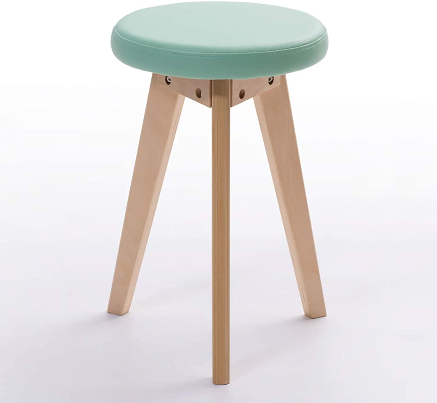 YANYUBIN Solid Wood Stool,Low Stool,Table and Stool,Changing His shoes Stool,Small Bench,Can Be Used for Changing shoes and Dining Stools (color   Green)