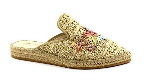 Macarena IMA30 naturbeige Schuhe Hausschuhe Frau Espadrilles 37