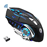 Xmate Zorro Pro 2.4GHz Wireless Gaming Mouse, 3200 DPI Optical Sensor, RGB Lighting
