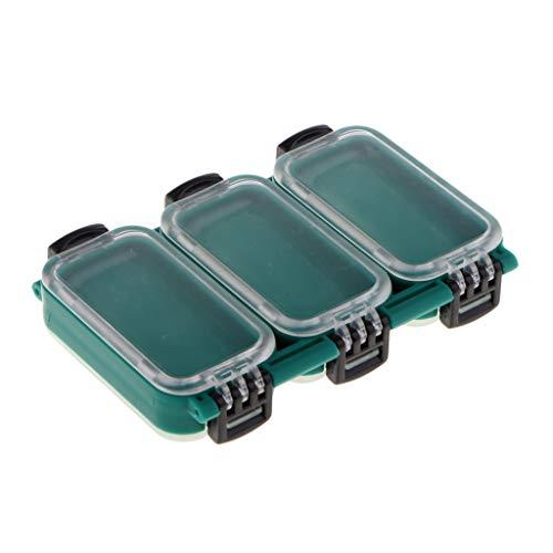 Baoblaze Coffrets de Rangement Transparents pour Boîtes de Pêche à 6 Compartiments Fixes