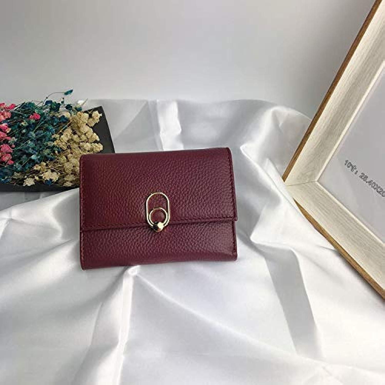 Wallet Ladies Long Clutch Bag Women's Wallet Korean Version of The Handbag (color   Black) Ladies Purses (color   Red)