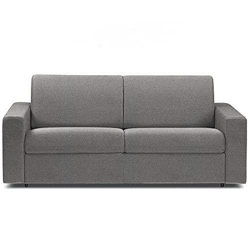 Canapé Convertible rapido CRÉPUSCULE Matelas 140cm Comfort BULTEX® Tissu Neo Gris Silver