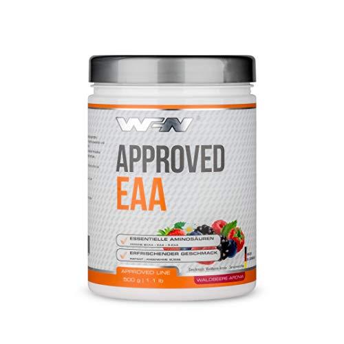 WFN Approved EAA - Waldbeere-Aronia - 500g Dose - 8 Essentielle Aminosäuren - Instant EAA Pulver - Vegan - 35 Portionen - Made in Germany
