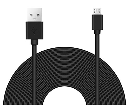 25ft Power Extension Cable for Wyze, Blink, Echo Connect, Nintendo Switch, PS4 Xbox Controller, and Cameras.