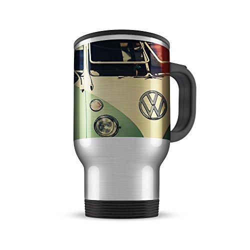 Geschenkedirekt Thermobecher in Edelstahl mit VW Käfer/Bulli Motiv, Motiv:Motiv 02