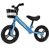 GASLIKE Bicicleta de Equilibrio para niños, sin Pedales, Ruedas de 12/14 Pulgadas, Asiento Ajustable, Primera Bicicleta para niños de 2-8 años de Edad, Estable y Segura,A 12inch Blue