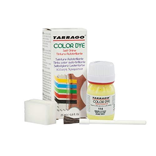 Self Shine Color Dye 25 ml | Tinte para Zapatos y Accesorios Autobrillante | Cubre Rozaduras y Desgastes del Calzado (Amarillo Suave (114))