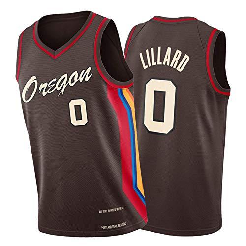 OKMJ Blazer Lillard - Camiseta de baloncesto transpirable para deportes al aire libre (tallas S-XXL), azul, XXL