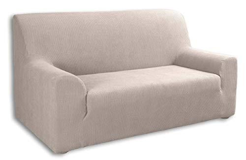 Tural Elastischer Sofabezug Valeta. Sofaüberwurf, Beige, 3 Sitzer (180-230cm)