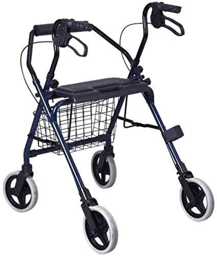 Standaard Walkers Walking Aid wandelstok 4 Wielen Rollator Walker Met Dubbele Remmen, Mobility Aid Walker Met Zitting En Opslag Tas Wandelen Frames
