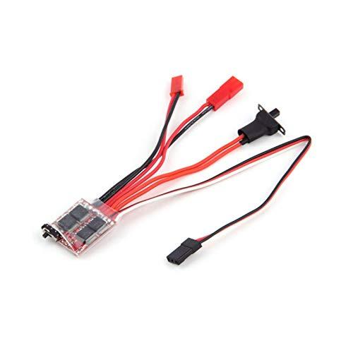 LIZONGFQ 20A / 30A Cepillado Mini ESC Control de Velocidad eléctrico con Interruptor de Freno Adecuado para WPL C14 JJRC Q64 RC Car Boat Parts Repuestos (Color: 30A) ( Color : 20A )