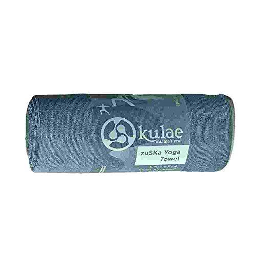 Kulae Yoga ZuSKa Premium Yoga-Handtuch, Unisex, grau, 25IN x 74IN
