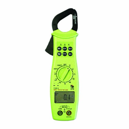 TPI 270 HVAC-R Autoranging Digital Clamp-On Meter Digital Multimeter, 40 Megaohms Resistance, 600V AC/DC Voltage, 400A AC, 400 Microamperes DC Current