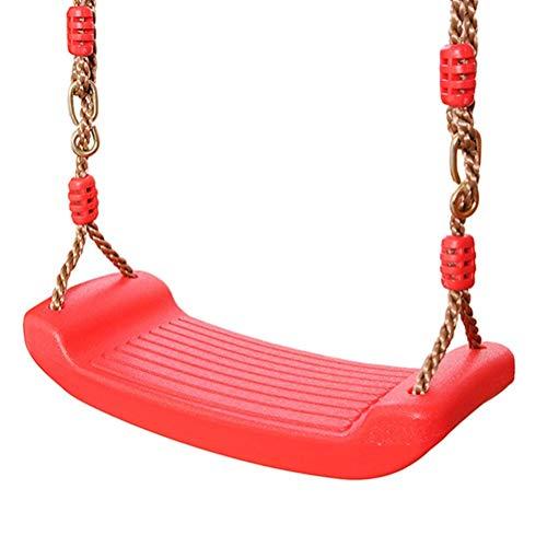 Allsmart Asiento de columpio para niños, silla de columpio de plástico para niños, tablero antideslizante con cuerda de altura ajustable, jardín al aire libre para niños