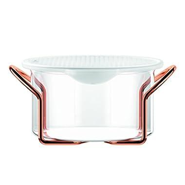 Bodum Hot Pot Bakeware Dish with Silicone Lid & Copper Stand, 1.0 L/34 oz/Medium, Copper