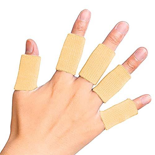 Zhuotop Fingerbandage, für Arthritis, atmungsaktiv, elastisch, für Basketball, Tennis, Baseball, Cricket, Volleyball, Badminton, 10 Stück, Complexion