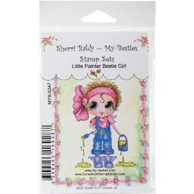 My-Besties Sellos 10,1 x 15,2 cm Little Painter Girl, Papel
