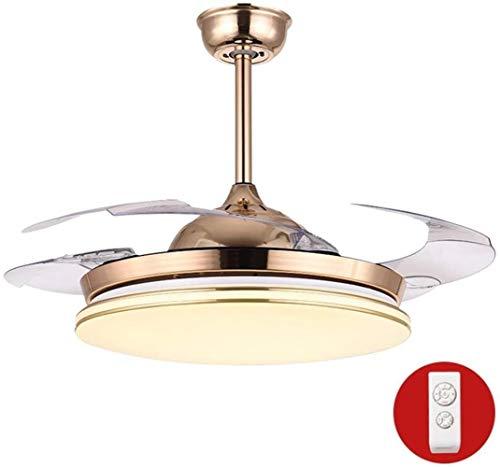Modern Home Licht Deckenventilator mit Fernbedienung Ventilator-Licht Kronleuchter, Deckenventilator Klinge Folding Unsichtbare Beleuchtung Zubehör LED-Lampe Deckenventilator, 42-Zoll / 36W