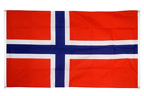 Flaggenfritze® Balkonflagge Norwegen - 90 x 150 cm