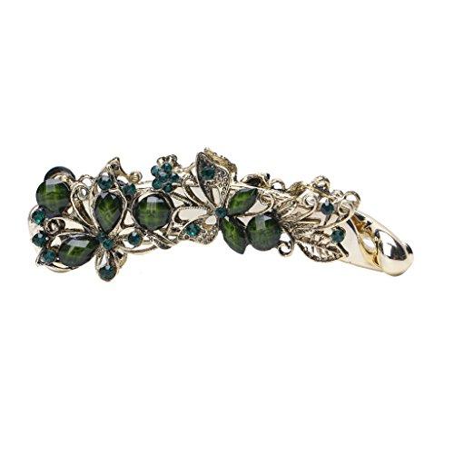Folewr-8 Haarspange, Banane, Schmetterling, Grün, Vintage, Haarspange, für Damen und Mädchen