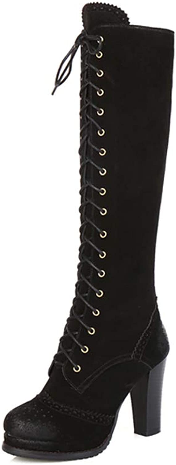 Zuezi WJ Fashion Womens Ladies Sexy Over The Knee Thigh,Lace UP Stilettos Heels Boot