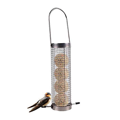 QUUY vogel voeder vogelhuisje hangend vogelvoer automaat hoogwaardig metalen vogelvoederstation voor zaadmengelingen 13 x 6,5 x 21 cm