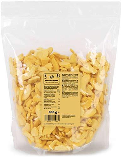 KoRo - Gefriergetrocknete Pfirsichscheiben 500 g - Schonend getrocknete Trockenfrüchte rein pflanzlich und vegan
