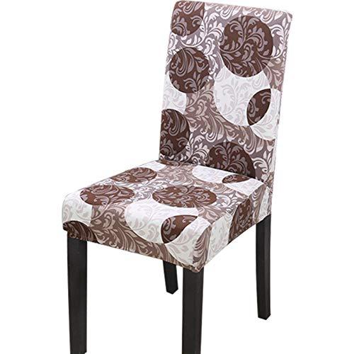 Fundas para sillas Lujo Color café Spandex Fundas sillas Comedor Lavable Extraíble Funda Muy fácil de Limpiar Duradera Modern Bouquet de la Boda Hotel Decor Restaurante 4/Piezas
