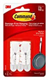 Command Medium Wire Toggle Hook, White, 2-Hooks, 3-Strips, Organize Damage-Free