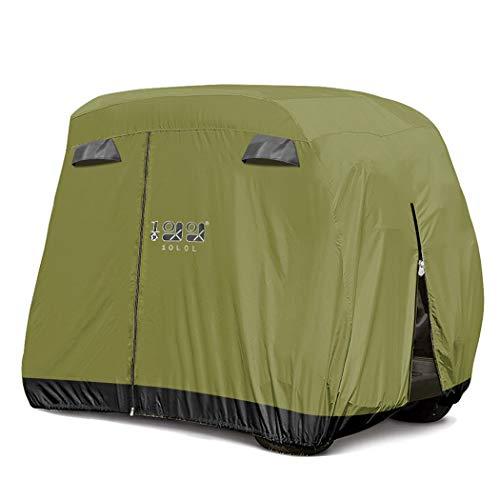 10L0L Universal 4 Passenger Golf Cart Cover for EZGO Club Car Yamaha, Waterproof Sunproof Outdoor Storage Cover - Green