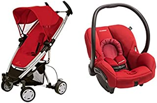 Quinny 2015 Zapp Xtra Stroller with Mico Max 30 Infant Car seat (Red)