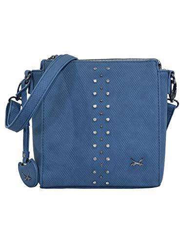 SANSIBAR-Damen Crossover Bag 20x22x8 003 - Midnight-Blue