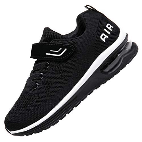 JARLIF Kids Athletic Tennis Running Shoes Breathable Sport Air Gym Jogging Sneakers for Boys & Girls (4 M US Big Kid,Blackwhite)